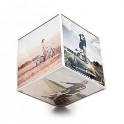 Cubo Portafoto Rotante personalizzato con foto