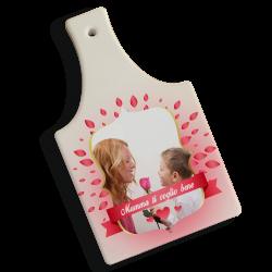 Tagliere in Ceramica da Personalizzare con foto tema cuori