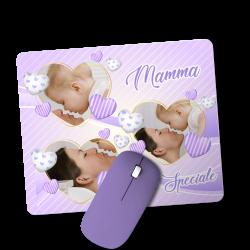 Tappetino per Mouse con 3 foto personalizzate