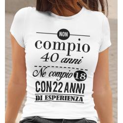 T-shirt compleanno con età personalizzata