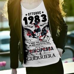 T-shirt per compleanno con dati personalizzati mix perfetto tra principessa e...