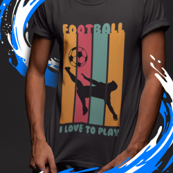 T-shirt con hobby personalizzato, I love Football