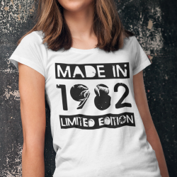 T-shirt con anno personalizzato Made in 1982 limited edition