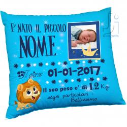 Cuscino neonato con foto e...