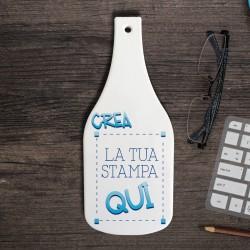 Tagliere in Ceramica forma Bottiglia da Personalizzare
