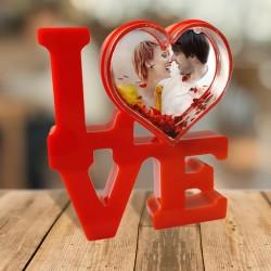 Portafoto Love con foto personalizzata in bolla cuore