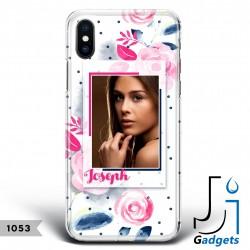 Cover Smartphone Fantasia fiori e pois con foto e nome da personalizzare