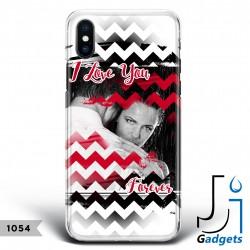 Cover Smartphone Fantasia zig zag con foto e frase da personalizzare