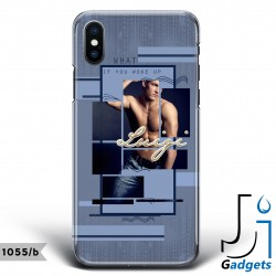 Cover Smartphone Fantasia blu con foto e frase da personalizzare