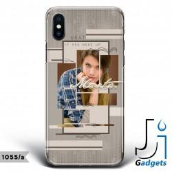 Cover Smartphone Fantasia beige con foto e frase da personalizzare