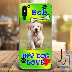 Cover Smartphone con cane ed il suo nome da personalizzare