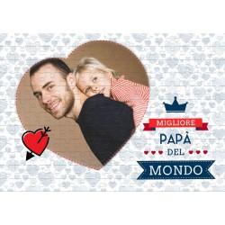 Puzzles Miglior Papà del mondo con foto da personalizzare