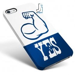 Cover Smartphone pugno, con scritta yes