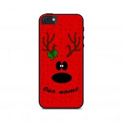 Cover Smartphone renna Natale con nome