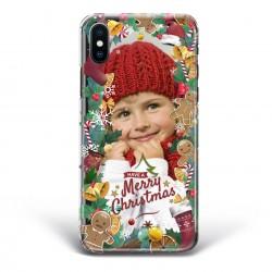 Cover Smartphone con foto e cornice di Natale