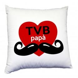 Cuscino tema per il papà, ti voglio bene Papà con baffi