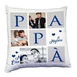 Cuscino con foto tema per il papà