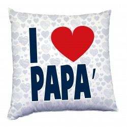 Cuscino tema per il papà, i love Papà