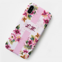 Cover Smartphone Floreale con iniziali