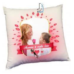 Cuscino Personalizzato con Foto, tema festa della Mamma