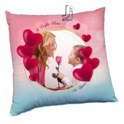 Cuscino Personalizzato con Foto, tema cuori per festa della Mamma