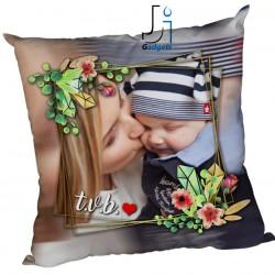 Cuscino Personalizzato con Foto, in cornice, tema per la festa della Mamma